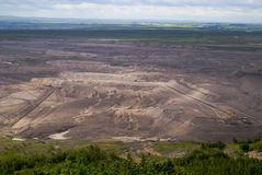 Land coal mining Royalty Free Stock Photography