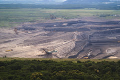 Land coal mining Royalty Free Stock Images