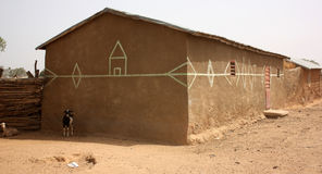 Land construction in a African village Stock Photography