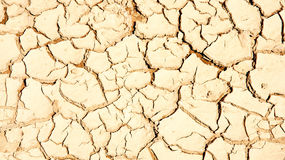 Land cracked by lack of water in El Garraf Royalty Free Stock Photography