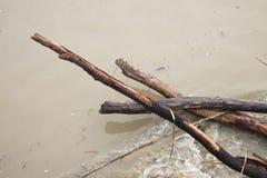 Land dat door stortbui wordt overstroomd Royalty-vrije Stock Foto