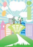 Land dat Groen Land bouwt royalty-vrije illustratie