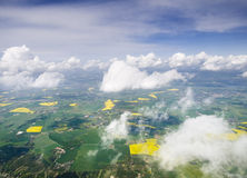 Land of Denmark from plane Stock Image