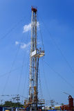 Land Drilling Rig in Yard Stock Photo