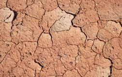 Land of droughs background. Cracked land shows dry and droughts Stock Image