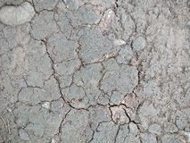 The land is dry ang barren stock photo