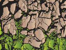 Land is dry. Arid areas of water stress in thailand vector illustration