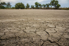 Land with dry and cracked ground. Desert Royalty Free Stock Photography