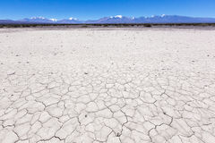 Land with dry and cracked ground. Pampa of El Leoncito Stock Image
