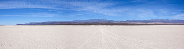 Land with dry and cracked ground. Pampa of El Leoncito Stock Images