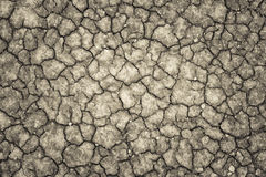 Land with a dry cracked ground , season water shortage. Royalty Free Stock Photography