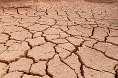 The land  is dry and parched Stock Photo