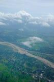 Land en rivier Royalty-vrije Stock Fotografie
