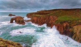 Land-Ende Cornwall lizenzfreie stockfotos