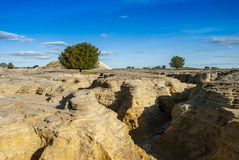 Land erosion. Land eroded from an old abandoned gold mining site Stock Photography