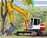 Land excavators Stock Photo