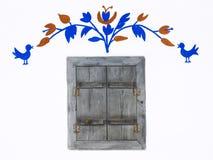 land förlägga i barack gammalt fönster Arkivbilder