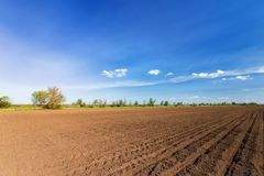 Land on the field for planting. \ bright spring photo ukraine midday royalty free stock image