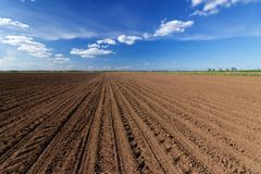 Land on the field for planting. \ bright spring photo ukraine midday stock photo