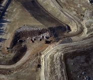Land-fill. Aerial view of a county land-fill Royalty Free Stock Images