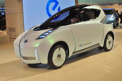 Land Glider by Nissan. Nissan unveiled a concept car named Land Glider at Tokyo Motor Show 2009 which aims to attract urban dwellers. The ultra compact electric Royalty Free Stock Photography