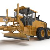 Land grader isolated on white. 3D illustration. Land grader isolated on white background. 3D illustration Royalty Free Stock Photos