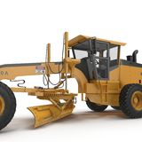 Land grader isolated on white. 3D illustration Royalty Free Stock Images
