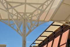 Shading structure. One of the good outdoor landmark stock image
