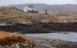 Land-Häuschen-Äußere Hebriden Schottland lizenzfreie stockbilder