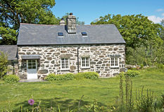 Land-Häuschen, Wales. Stockfotografie