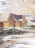 Land-Haus Lizenzfreie Stockbilder