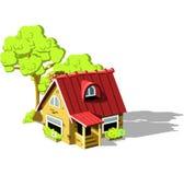 Land-Haus lizenzfreie abbildung