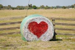 Land-Heu-Ballen-Valentinsgruß Stockbilder