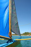 Land A'hoy. On a Sailboat in Boracay stock image