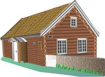 Land-huis royalty-vrije illustratie