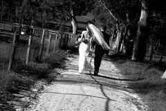 land ii som gifta sig arkivfoton