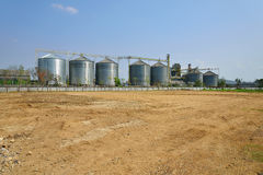 Land and industrial plant building Stock Photography