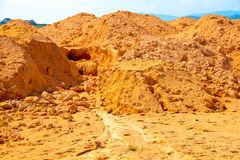 Land with interesting natural erosion pattern Stock Image