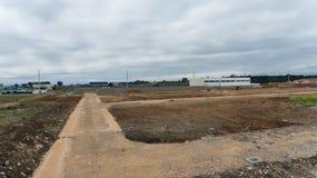 Land klaar voor bouw stock afbeelding