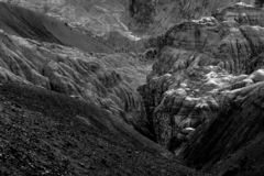 Land, Ladakh, India op de maan stock afbeelding