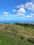 Land-Landschaft über dem Schauen der Küstenlinie Lizenzfreies Stockbild