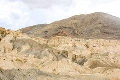 Land Landschap in Lamayuru in Ladakh, India op de maan royalty-vrije stock foto
