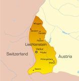 land liechtenstein royaltyfri illustrationer