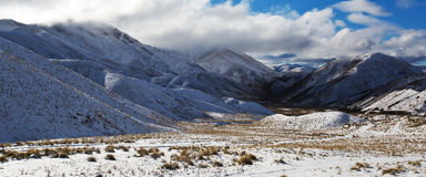 Land of Lindis Pass Royalty Free Stock Images