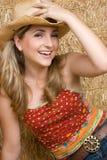 Land-Mädchen-Lachen Lizenzfreie Stockfotos