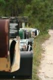 Land-Mailboxes Stockfotos