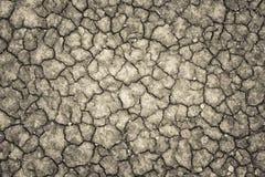 Land met een droge gebarsten grond, het tekort van het seizoenwater royalty-vrije stock fotografie