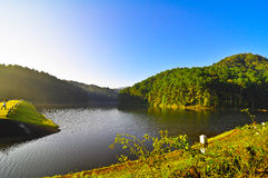Land of northern thailand. Pang Oung reservoir in Mae Hong Son Province, Thailand Stock Photos