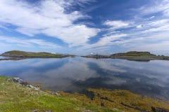 Land och himmel på den Fogo ön Arkivbilder