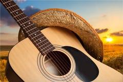 Land och västra musik royaltyfri bild